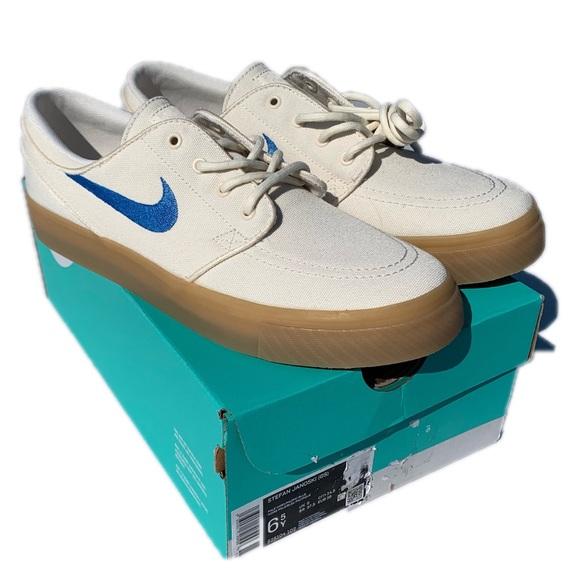 Nike SB Stefan Janoski creamy white and blue shoes